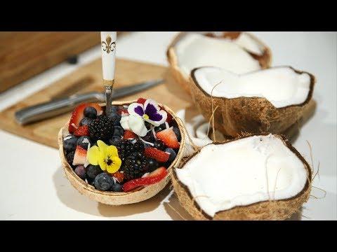 Ինչպես Բացել Կոկոսը - How To Open A Coconut - Heghineh Cooking Show In Armenian