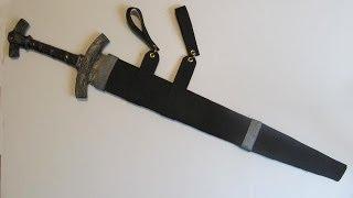 Make a sword sheath (scabbard) out of foam