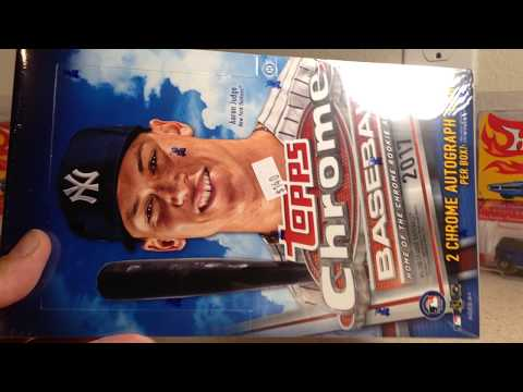 Opening a Hobby Box of 2017 Topps Chrome Baseball Cards with a HUGE REDEMPTION PULL