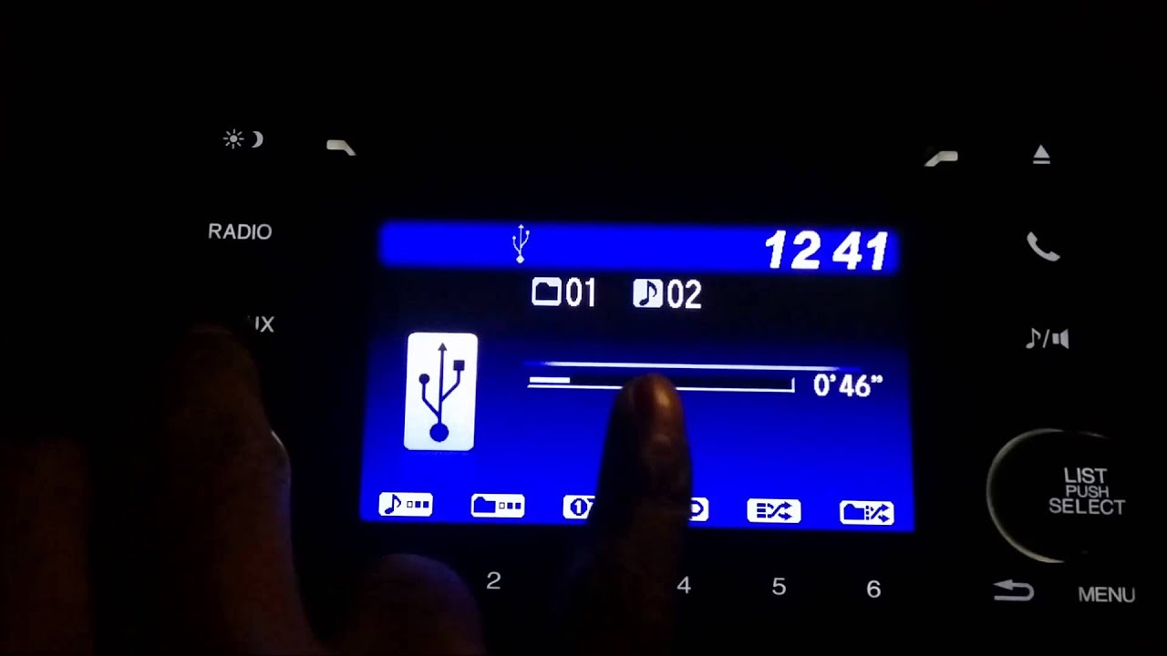 2015 honda fit civic accord 5 inch radio operational tutorial how to video  [ 1280 x 720 Pixel ]
