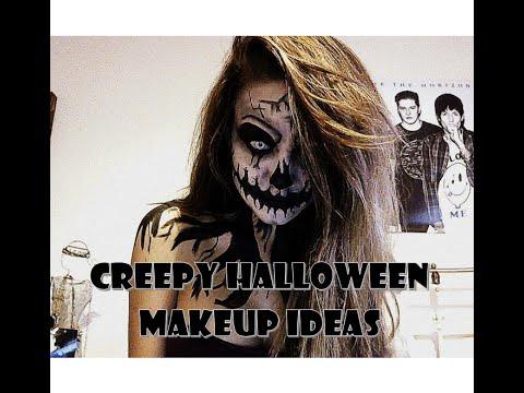 scary/creepy halloween ideas make up tutorial  youtube