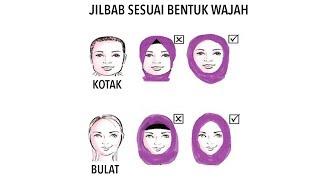 Trik Pake Jilbab Sesuai BENTUK WAJAH