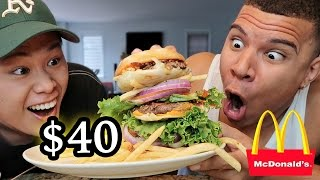 $40 MCDONALD'S BURGER TASTE TEST