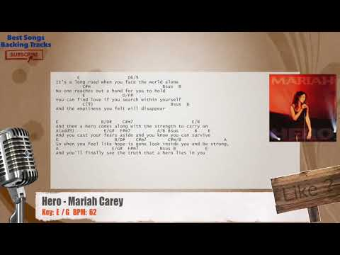 Hero - Mariah Carey Vocal Backing Track with chords and lyrics
