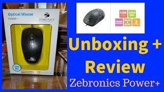 Review Unboxing Zebronics Zeb-Power Plus USB Optical Mouse