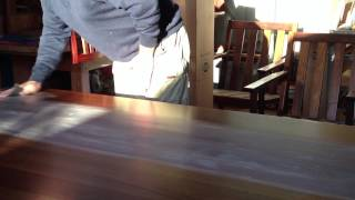 Bringing Out The Natural Lustre In A Custom Made Recycled Hardwood 8 Seater Dining Table