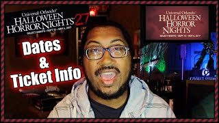 Halloween Horror Nights 27 Dates and Ticket Info released!