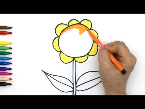 how-to-draw-a-sunflower-flower,-tree-step-by-step,-drawing-and-coloring-tutorials-for-kids,-toddlers