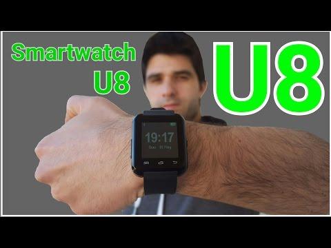 Smartwatch U8 Bluetooth Relogio Inteligente análise review em portugues