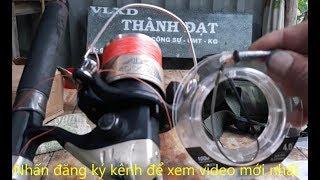 Dây câu cá lóc, cách quấn vào máy câu cá | hương tràm u minh