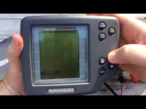 Humminbird Wide 100 Sonar Fish Finder eBay Demo- parts only unit