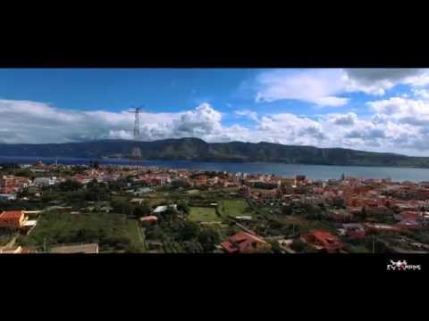 AERIAL FOOTAGE Strait of Messina Drone view