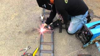 How to make heavy duty steel loading ramps