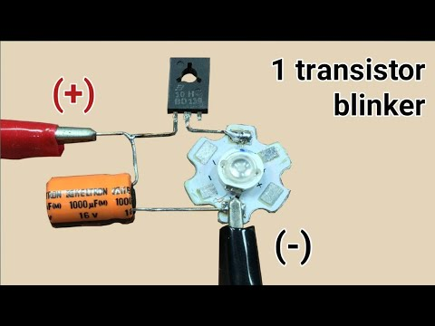 Power led blinker using 1 transistor