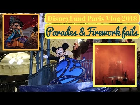 Disneyland Paris January 2018 #4 | 70 Questions done badly, Parades & Firework Fails  | Krispysmore