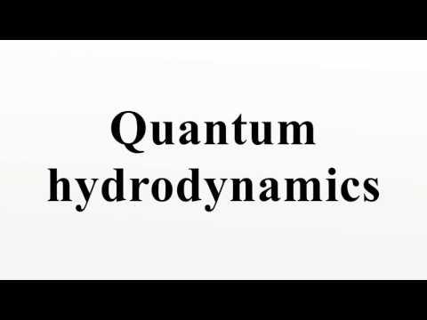 Quantum hydrodynamics