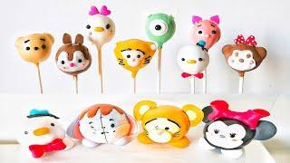 超可愛!迪士尼tsumtsum棒棒糖蛋糕【免烤箱】 Disney Tsum Tsum Cake Pop【NO OVEN】