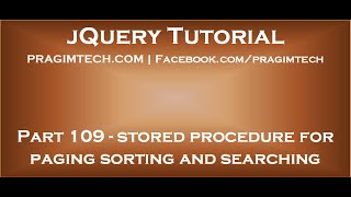 jQuery Datatables Stored Procedure for Paging, Sorting and Searching