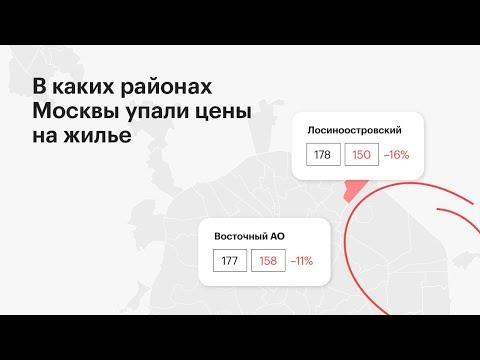 К каких районах Москвы упали цены на жилье