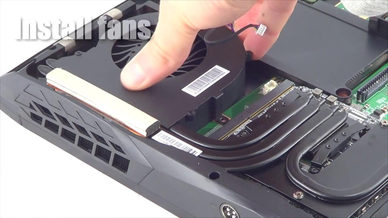 64 Gb Ddr4 2400 Memory Upgrade In Eurocom Tornado F5 Gaming Laptop Youtube