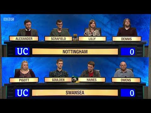 University Challenge S45E05 - The University of Nottingham vs  The University of Swansea