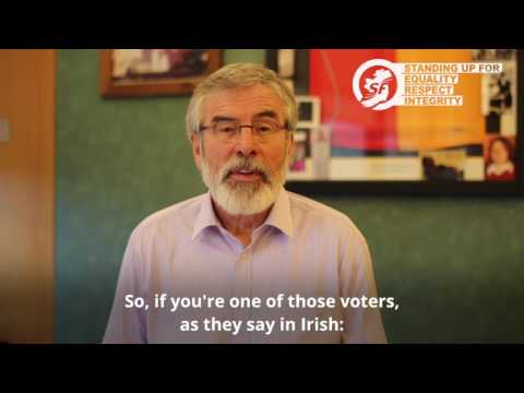 Come out and vote Sinn Féin
