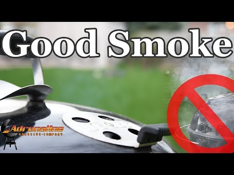 How to get good smoke on a charcoal grill