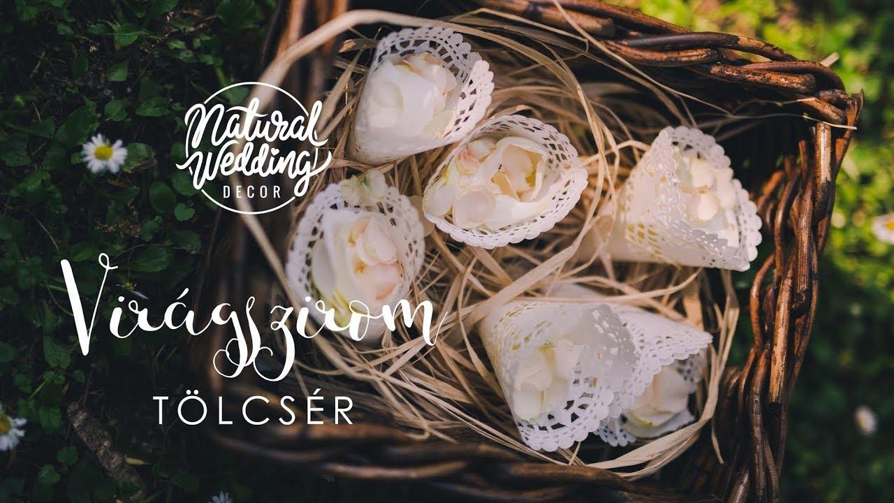 Virgszirmos Csipketlcsr Natural Wedding Decor Youtube