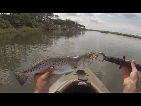 Inshore kayak fishing oak island nc speckled trout and for Oak island nc fishing report