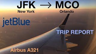 jetblue airways b683 i jfk mco i blue i a321 i trip report