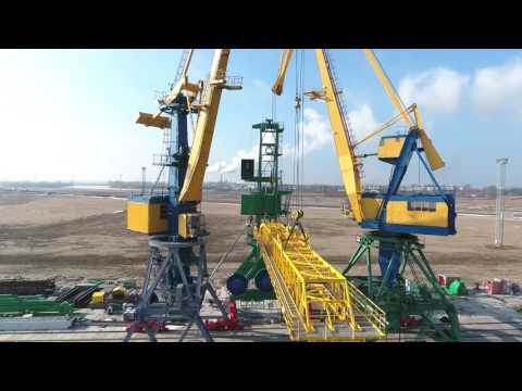 Coal Shiploader in Riga. Assembly and Installation.