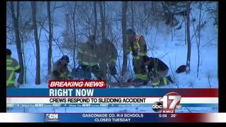 Crews respond to sledding accident in south Columbia