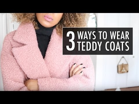 How To Wear Teddy Coats | MONKI, H&M, Topshop