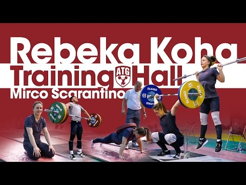 Rebeka Koha Europeans Training Hall Part 1 w/ Mirco Scarantino (Snatch, Clean & Jerk + Assistance)