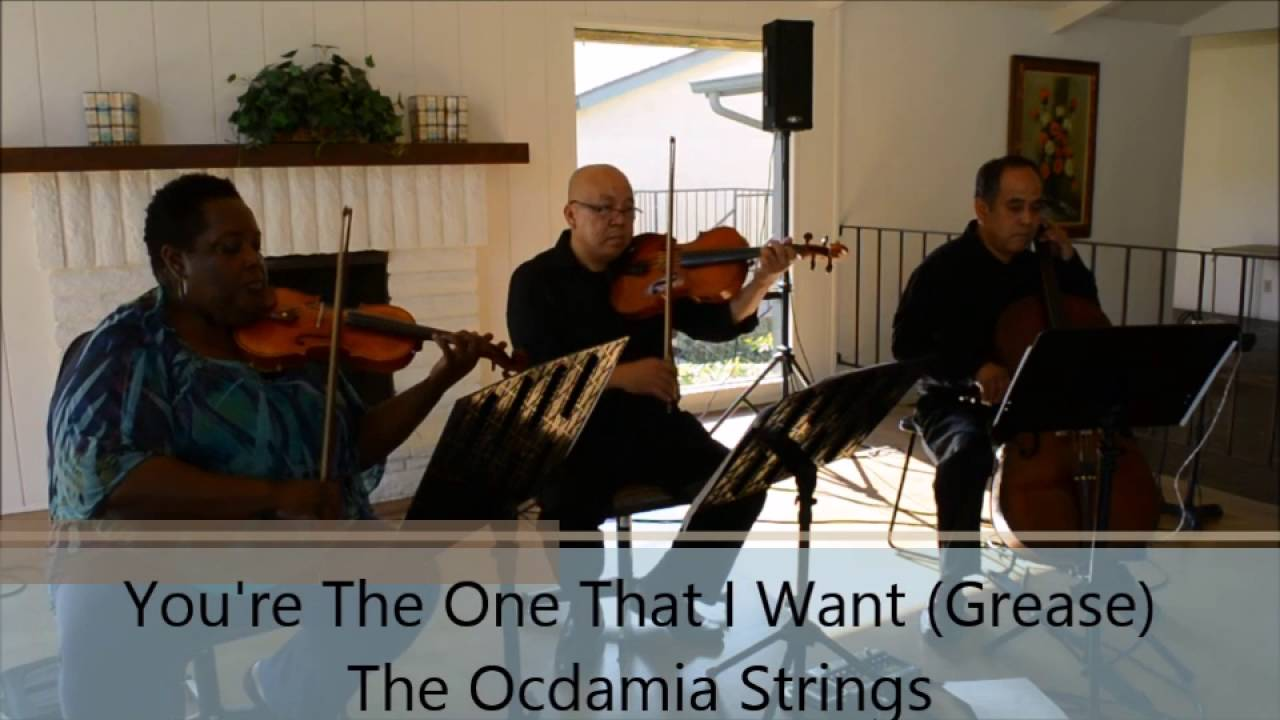 Youre The One That I Want Grease String Trio By Ocdamia Strings