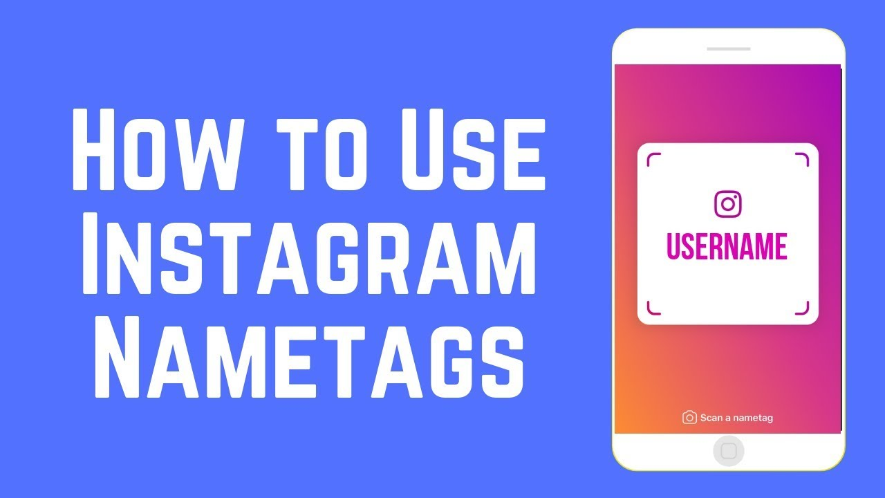 How to put name tag on instagram story