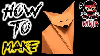 How to make: Origami Fox