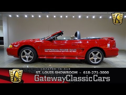 #7664 1994 Ford Mustang Cobra Indy Pace Car Gateway Classic Cars St. Louis