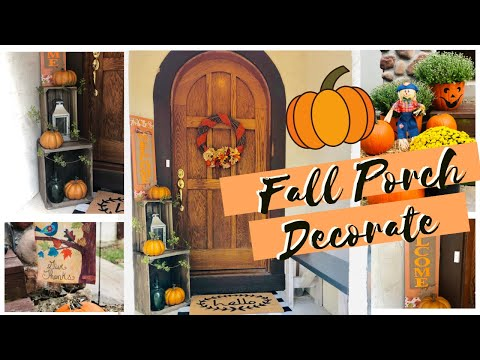 🍁FALL PORCH DECORATING IDEAS   FALL PORCH MAKEOVER   TRASH TO TREASURE   UPCYCLE FURNITURE🍁