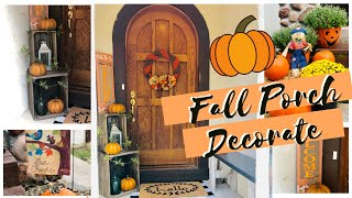 🍁FALL PORCH DECORATING IDEAS | FALL PORCH MAKEOVER | TRASH TO TREASURE | UPCYCLE FURNITURE🍁