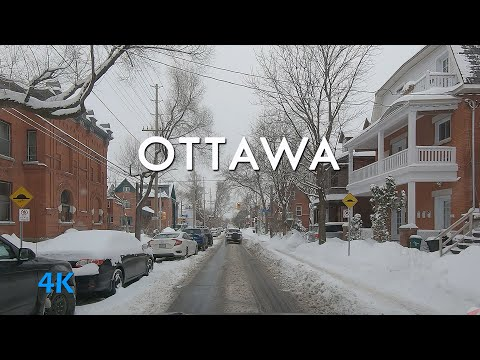 Driving Ottawa Canada after snow storm