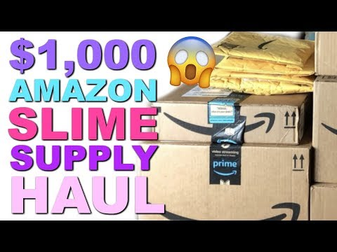 🔴OPENING MY $1,000 AMAZON SLIME SUPPLY HAUL!!!  JOIN ME LIVE!