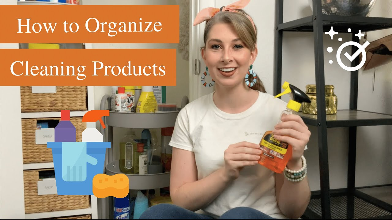 How to Organize Cleaning Products