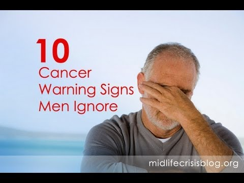 Image result for cancer warning signs for men
