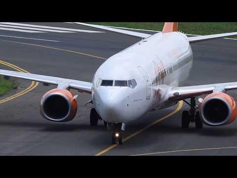 POUSO DO BOEING 737-8EH(WL) DA GOL  EM TERESINA-PI