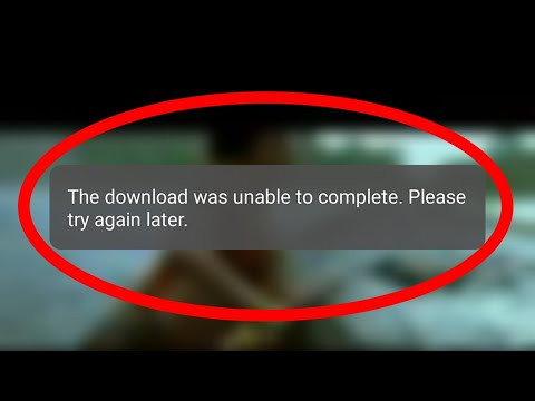 Fix Download Failed||The Download Was Unable To Complete-Whatsapp