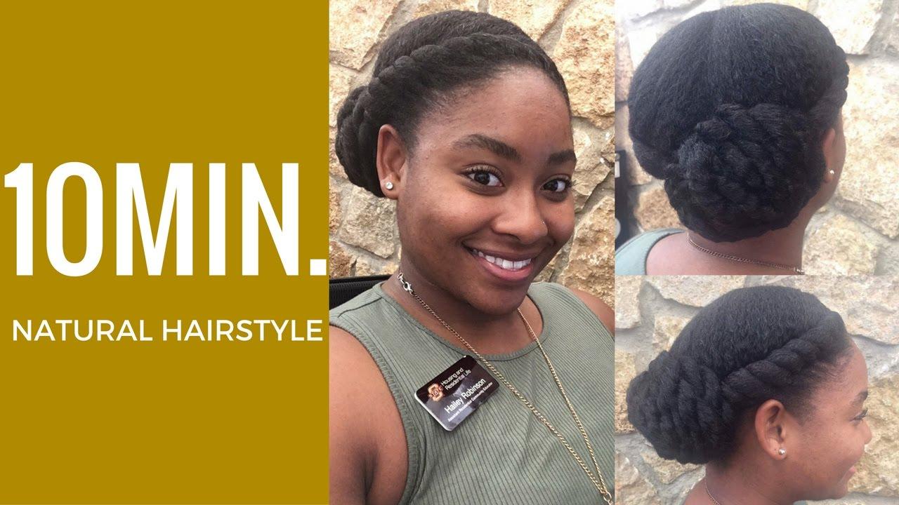 Protective Hair Styles For Short 4c Hair: 10min. Protective Bun Hairstyle