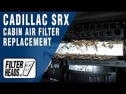 How to Replace Cabin Air Filter 2012 Cadillac SRX