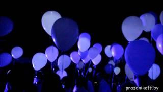 Запуск светящихся шаров на свадьбе в Минске в Riviera Country Club 07.07.2017