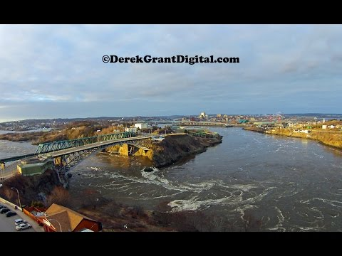 Saint John, New Brunswick, Canada Aerial Drone Video